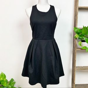 Lulu's | Black CutOut and About Skater Dress Sz L